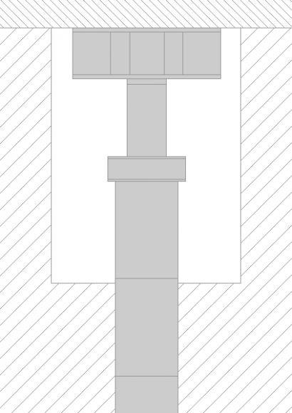 Skizze eines eingepressten ERKA-Pfahls