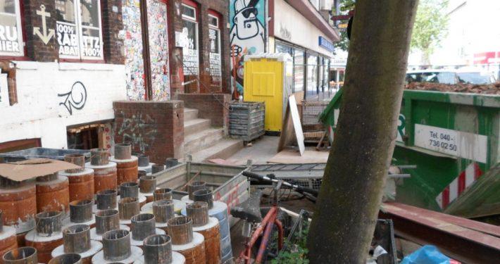 ERKA Pfahl Nachgründung Wohnhaus in Hamburg St. Pauli