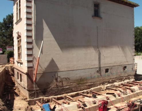 ERKA Pfahl Verschiebung Wohnhaus in Hannover