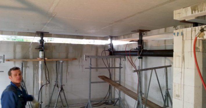 ERKA Pfahl Anhebung Geschoss Neubau in Klein Nordende