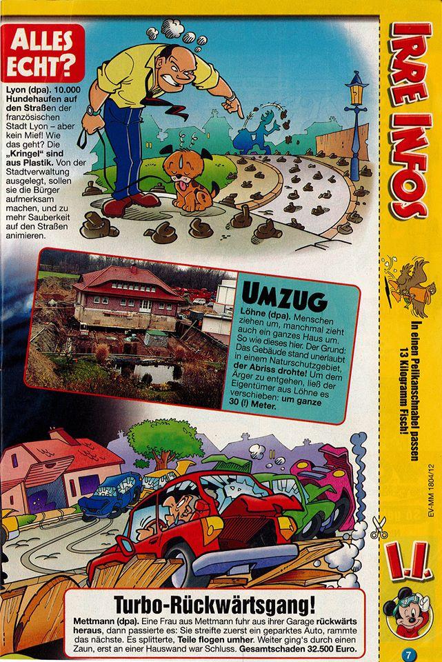 ERKA Pfahl in der Micky Maus Ausgabe von 2004