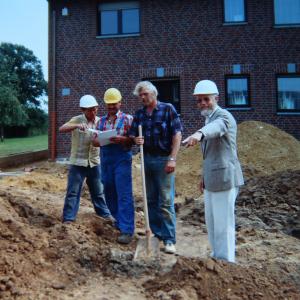 Rudolf Schaffrath auf der Baustelle