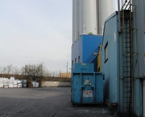 ERKA Pfahl Nachgründung Siloanlange in Oberhausen